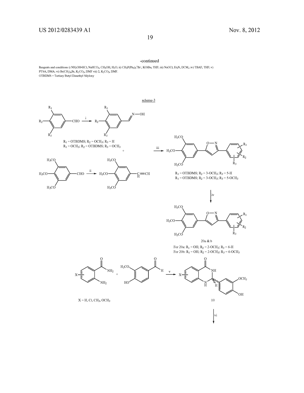 ISOXAZOLE/ISOXAZOLINE/COMBRETASTATIN LINKED DIHYDROQUINAZOLINONE HYBRIDS     AS POTENTIAL ANTICANCER AGENTS AND PROCESS FOR THE PREPARATION THEREOF - diagram, schematic, and image 21