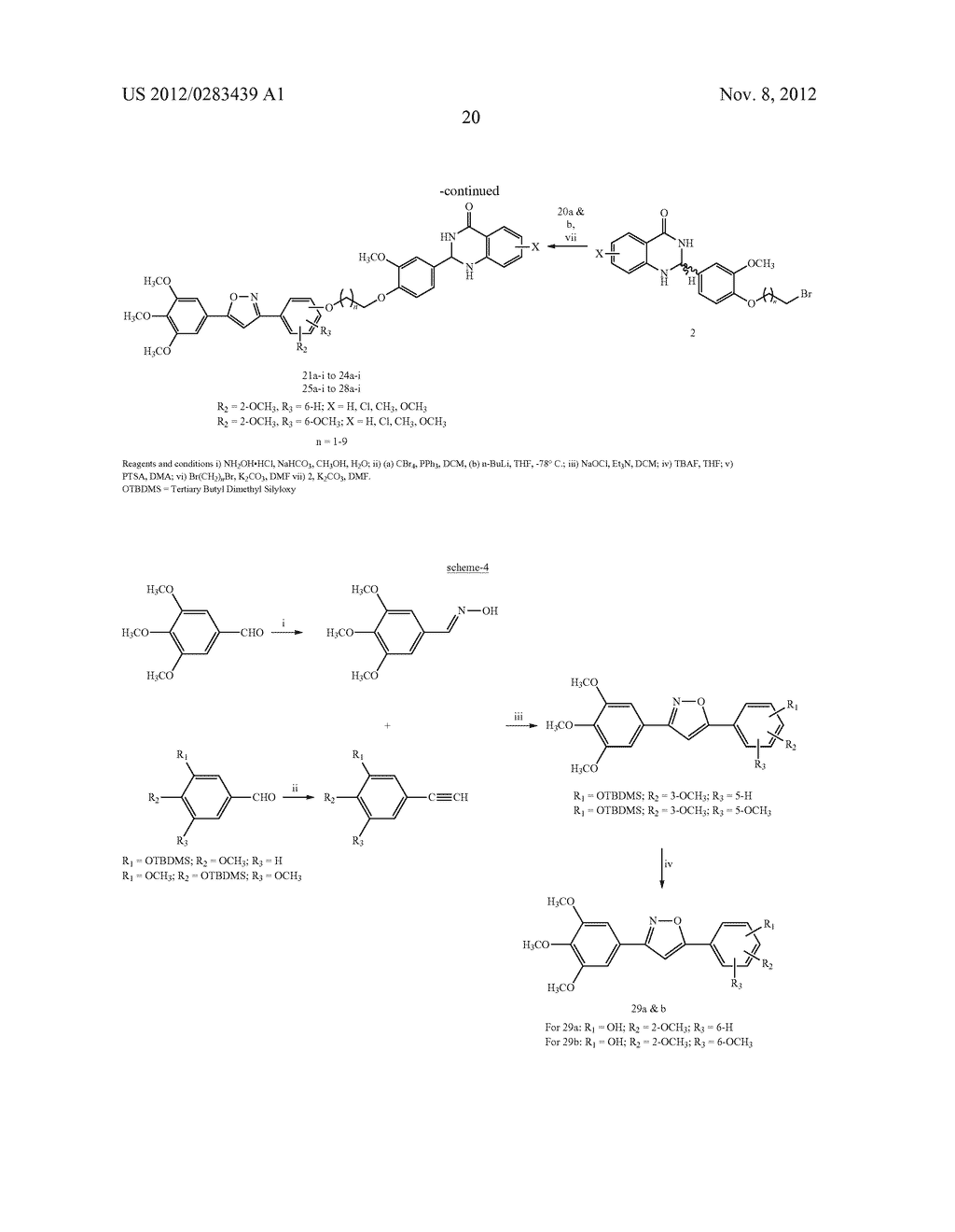 ISOXAZOLE/ISOXAZOLINE/COMBRETASTATIN LINKED DIHYDROQUINAZOLINONE HYBRIDS     AS POTENTIAL ANTICANCER AGENTS AND PROCESS FOR THE PREPARATION THEREOF - diagram, schematic, and image 22