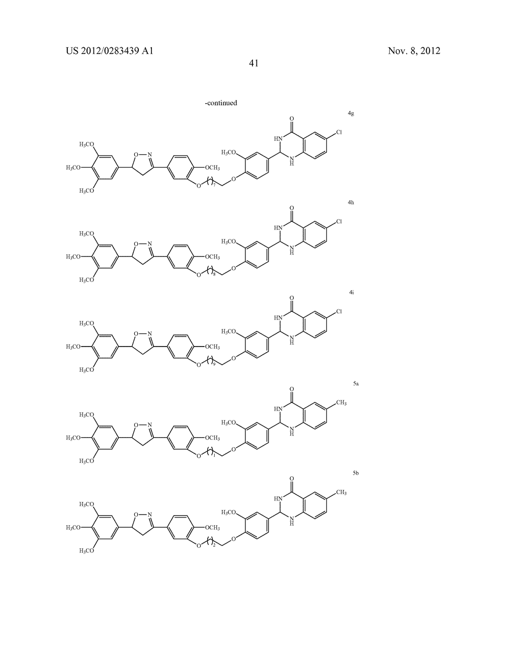 ISOXAZOLE/ISOXAZOLINE/COMBRETASTATIN LINKED DIHYDROQUINAZOLINONE HYBRIDS     AS POTENTIAL ANTICANCER AGENTS AND PROCESS FOR THE PREPARATION THEREOF - diagram, schematic, and image 43