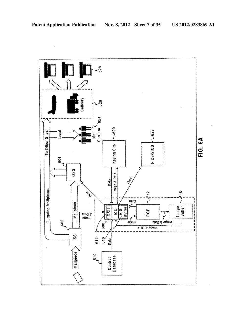 APPARATUS AND METHODS FOR IDENTIFYING AND PROCESSING MAIL USING AN     IDENTIFICATION CODE - diagram, schematic, and image 08