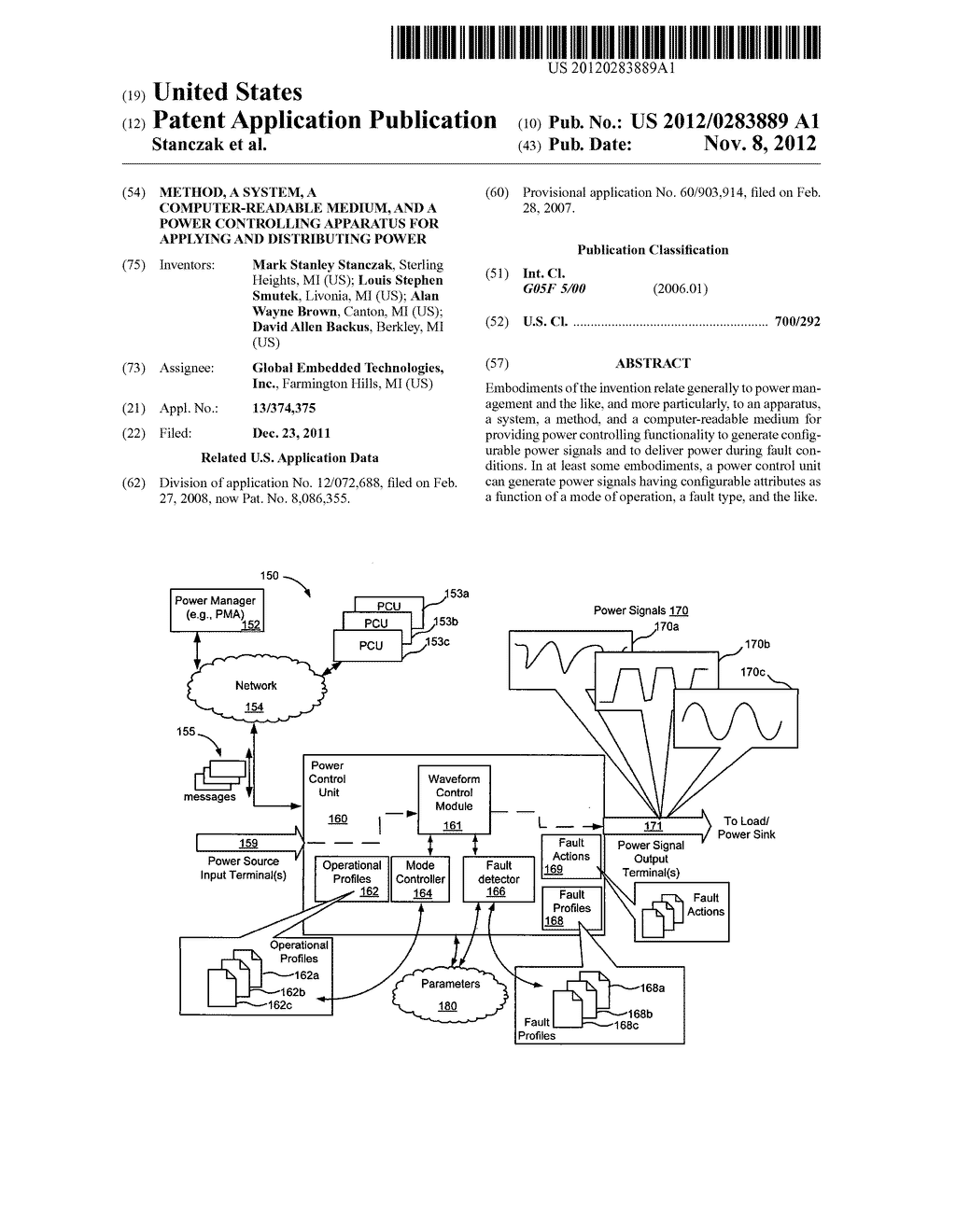 Method, a system, a computer-readable medium, and a power controlling     apparatus for applying and distributing power - diagram, schematic, and image 01