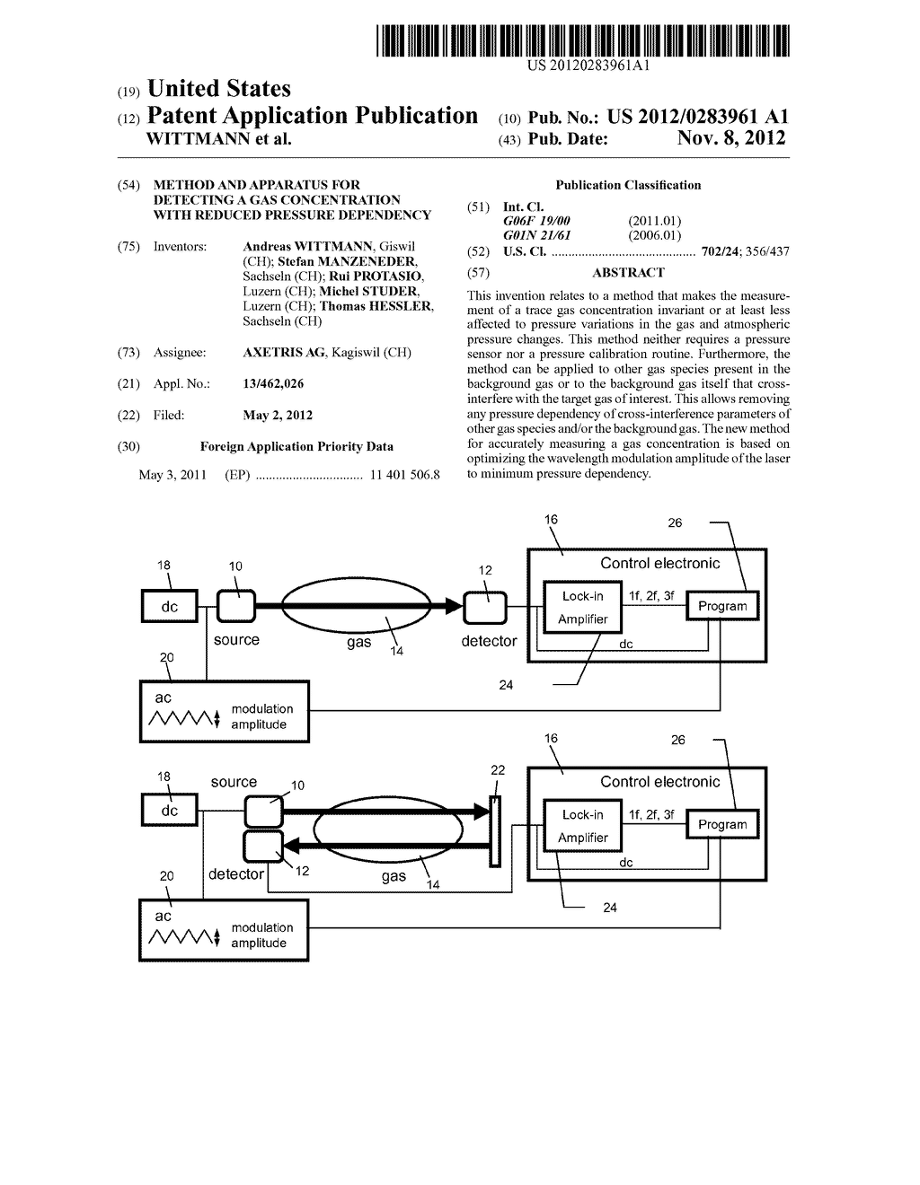 METHOD AND APPARATUS FOR DETECTING A GAS CONCENTRATION WITH REDUCED     PRESSURE DEPENDENCY - diagram, schematic, and image 01