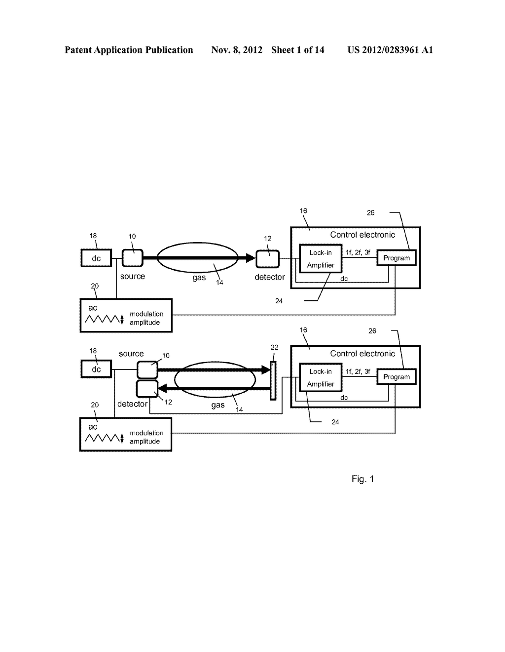 METHOD AND APPARATUS FOR DETECTING A GAS CONCENTRATION WITH REDUCED     PRESSURE DEPENDENCY - diagram, schematic, and image 02