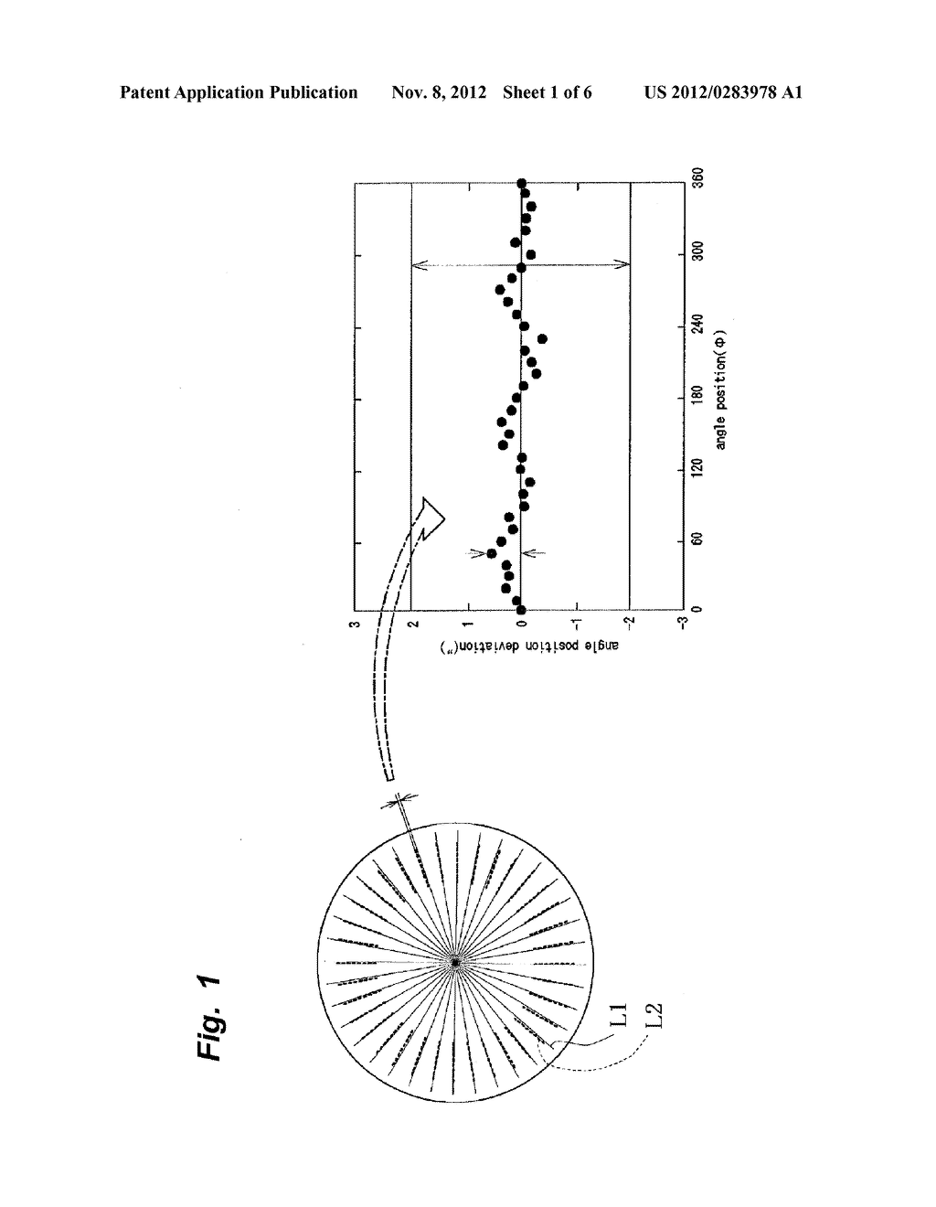 AXIS RUN-OUT MEASURING METHOD AND ANGLE DETECTING DEVICE WITH     SELF-CALIBRATION FUNCTION HAVING AXIS RUN-OUT MEASURING FUNCTION - diagram, schematic, and image 02
