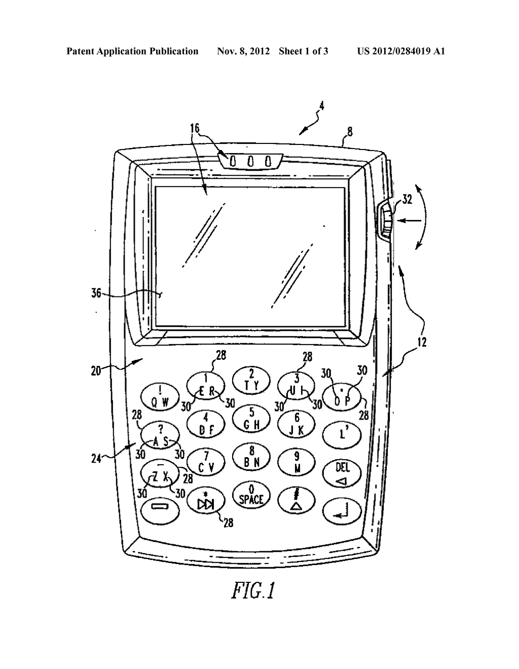 HANDHELD ELECTRONIC DEVICE WITH REDUCED KEYBOARD AND ASSOCIATED METHOD OF     PROVIDING IMPROVED DISAMBIGUATION WITH REDUCED DEGRADATION OF DEVICE     PERFORMANCE - diagram, schematic, and image 02