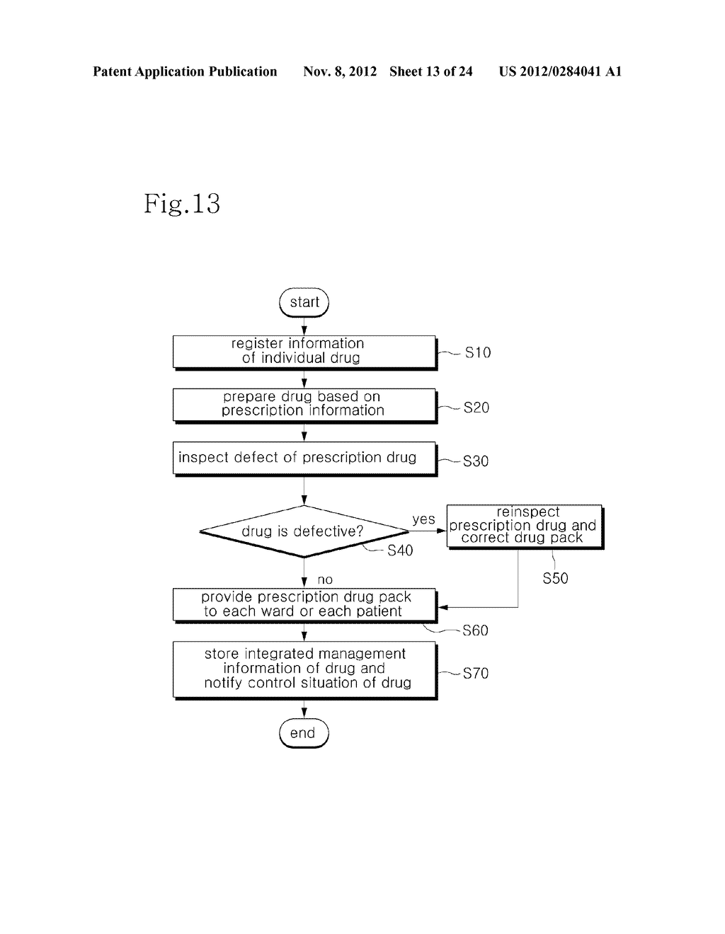 INTEGRATED DRUG MANAGEMENT SYSTEM AND METHOD OF PROVIDING PRESCRIPTION     DRUGS BY USING THE SAME - diagram, schematic, and image 14