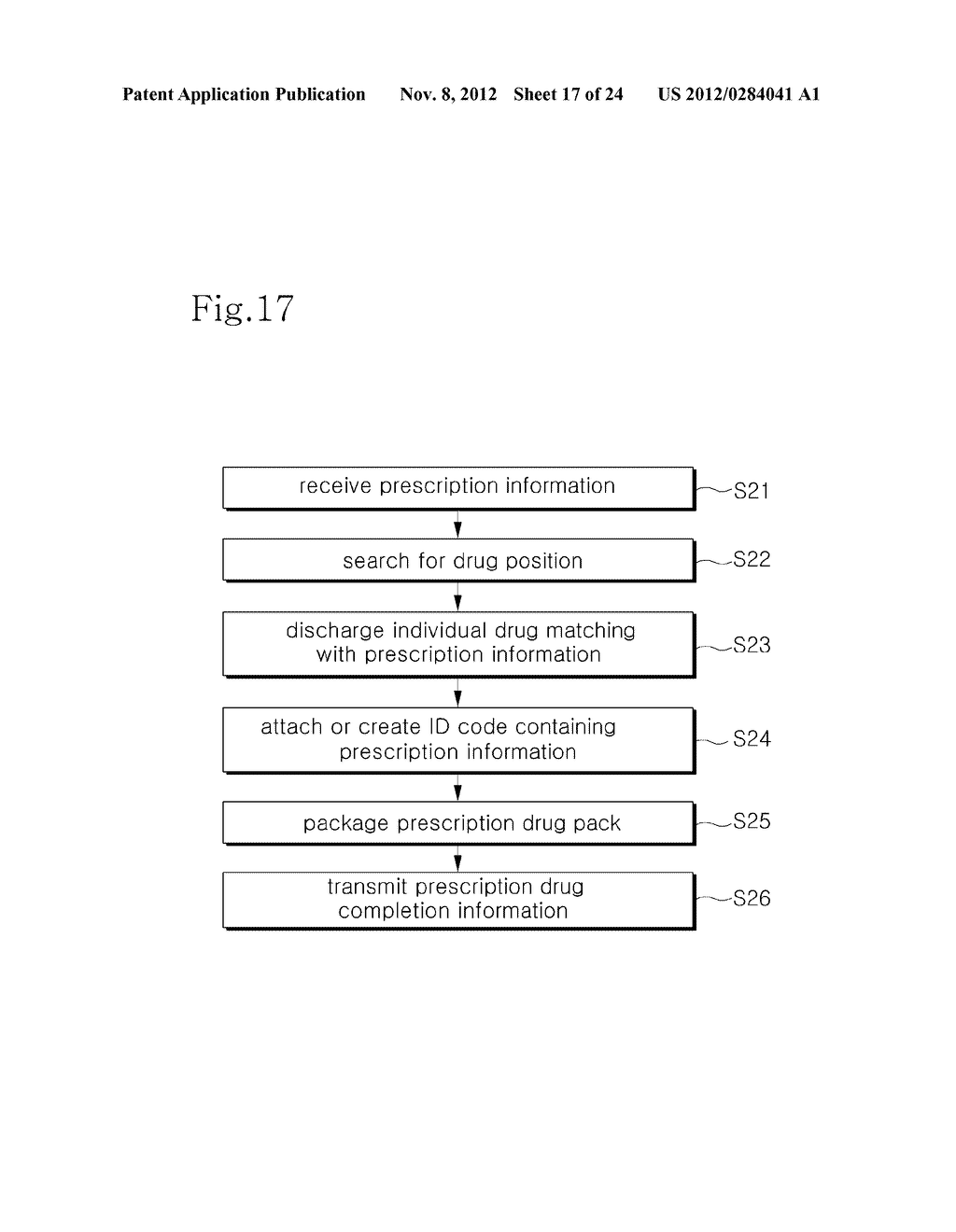 INTEGRATED DRUG MANAGEMENT SYSTEM AND METHOD OF PROVIDING PRESCRIPTION     DRUGS BY USING THE SAME - diagram, schematic, and image 18
