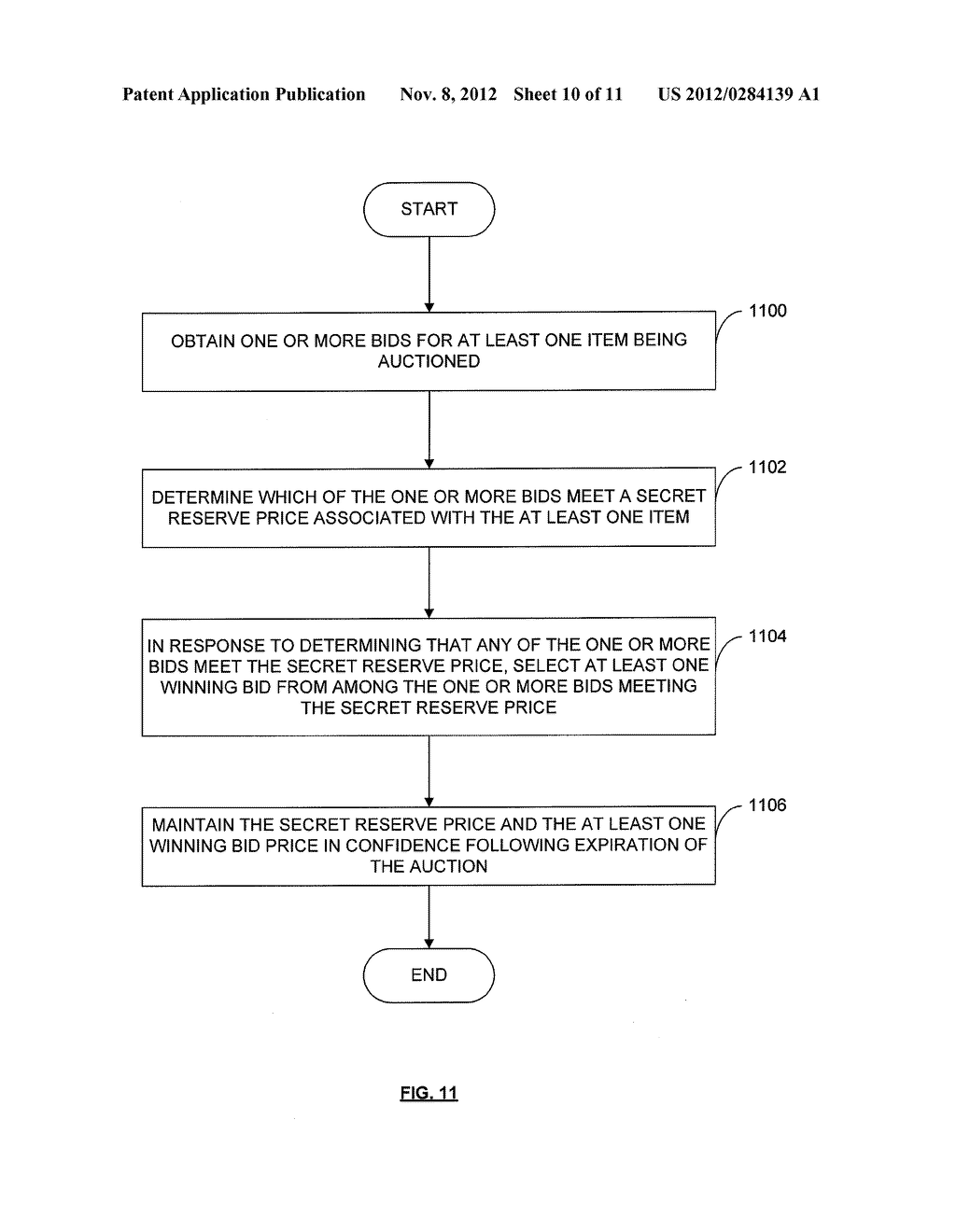 METHOD AND APPARATUS FOR PROVIDING A HOMOGENEOUS DISCRIMINATORY PRICE     AUCTION WITH SECRET RESERVE - diagram, schematic, and image 11