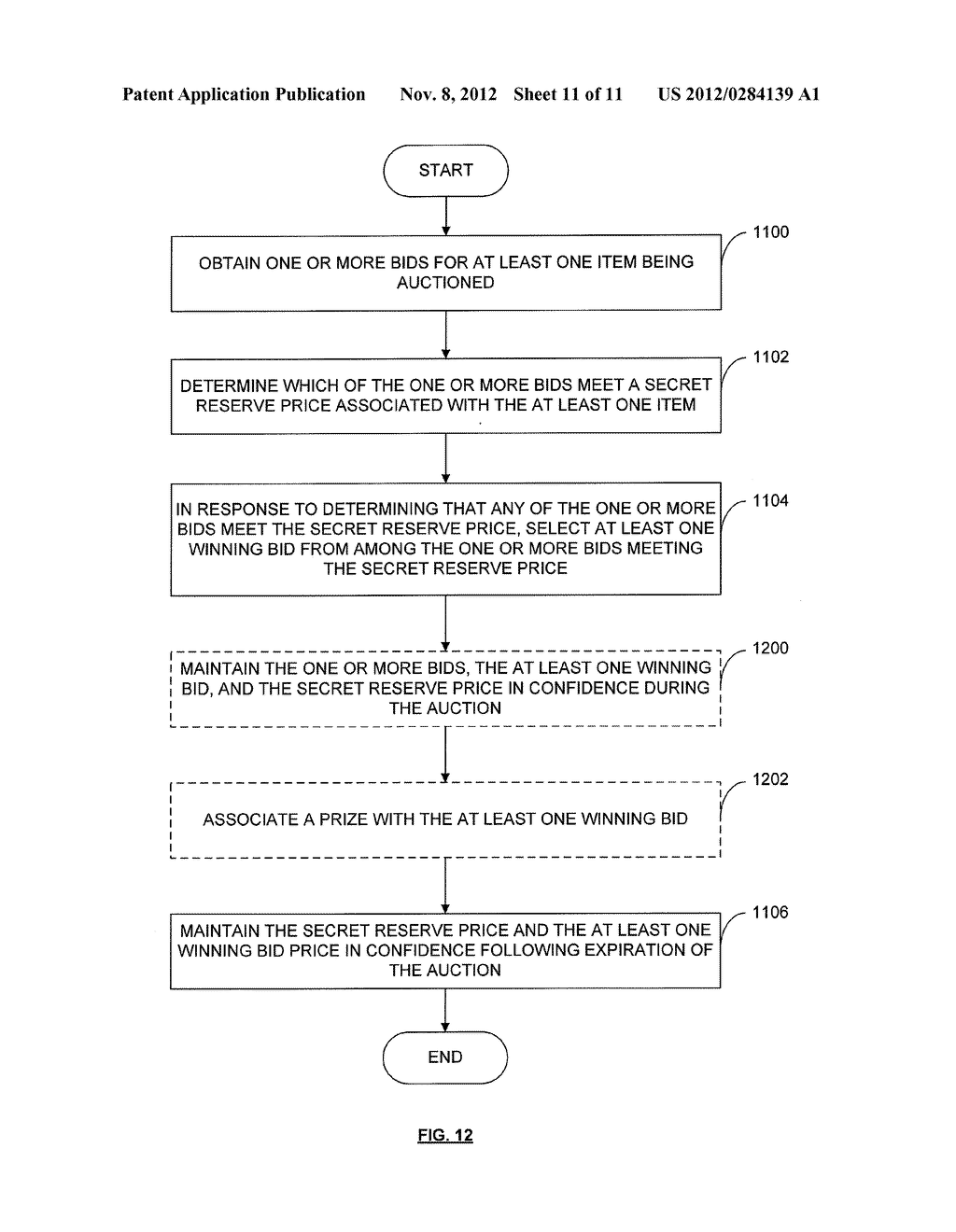 METHOD AND APPARATUS FOR PROVIDING A HOMOGENEOUS DISCRIMINATORY PRICE     AUCTION WITH SECRET RESERVE - diagram, schematic, and image 12