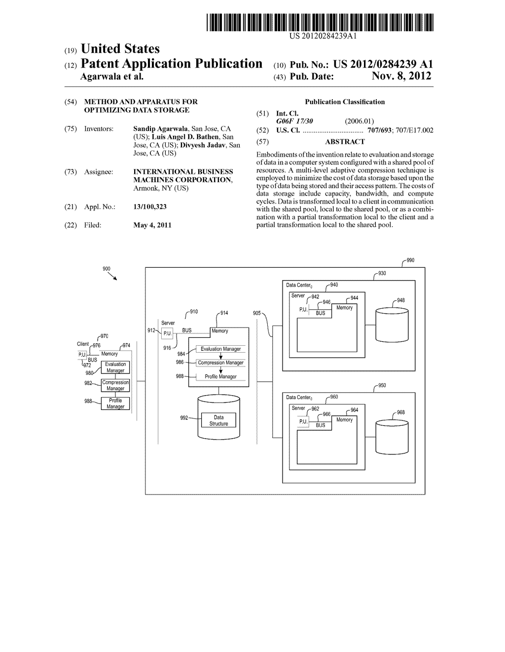 METHOD AND APPARATUS FOR OPTIMIZING DATA STORAGE - diagram, schematic, and image 01