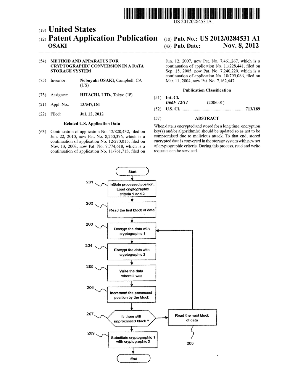 METHOD AND APPARATUS FOR CRYPTOGRAPHIC CONVERSION IN A DATA STORAGE SYSTEM - diagram, schematic, and image 01