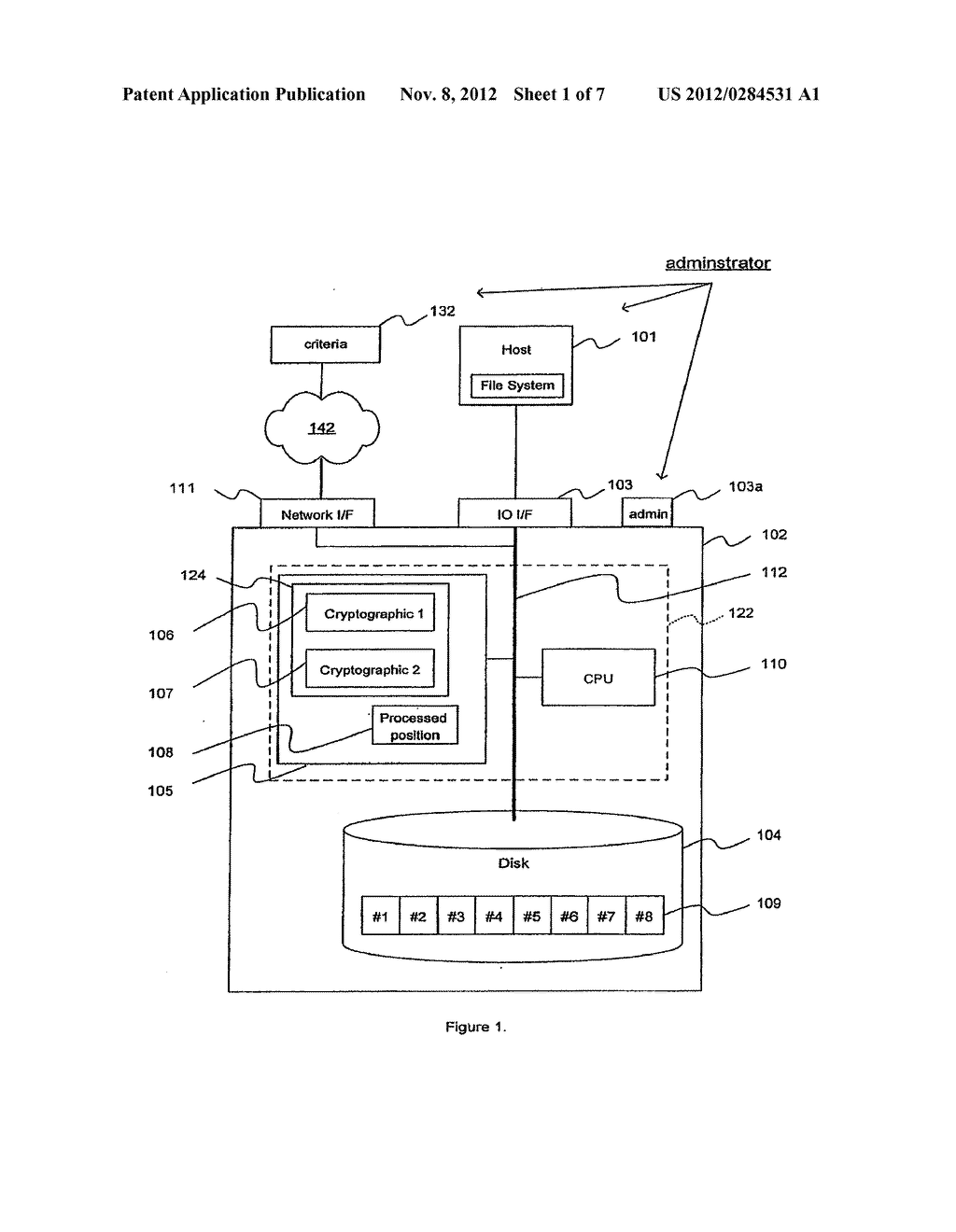 METHOD AND APPARATUS FOR CRYPTOGRAPHIC CONVERSION IN A DATA STORAGE SYSTEM - diagram, schematic, and image 02