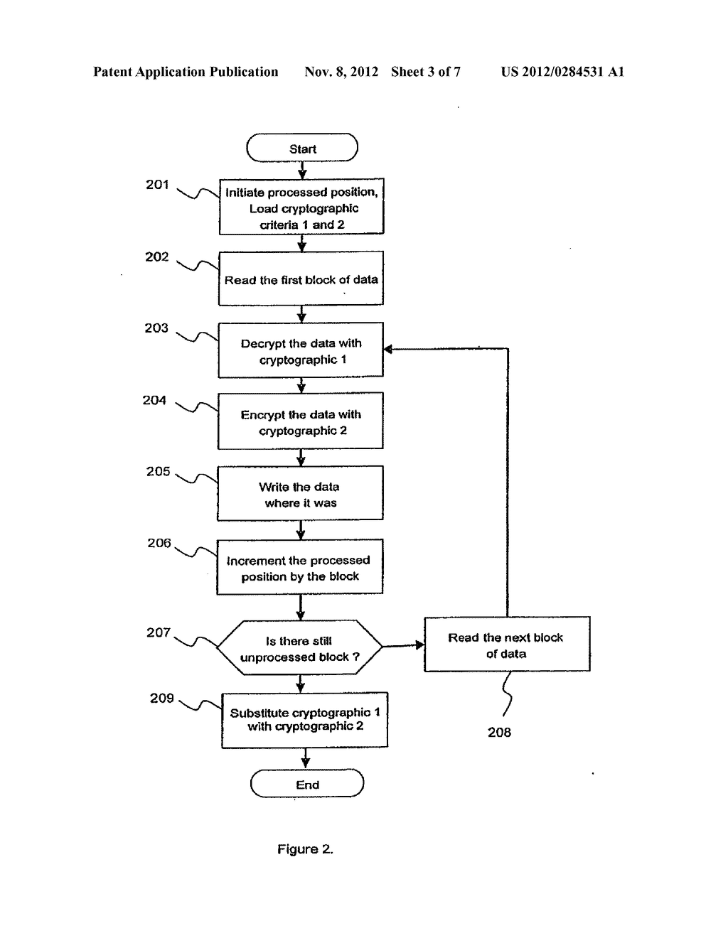 METHOD AND APPARATUS FOR CRYPTOGRAPHIC CONVERSION IN A DATA STORAGE SYSTEM - diagram, schematic, and image 04