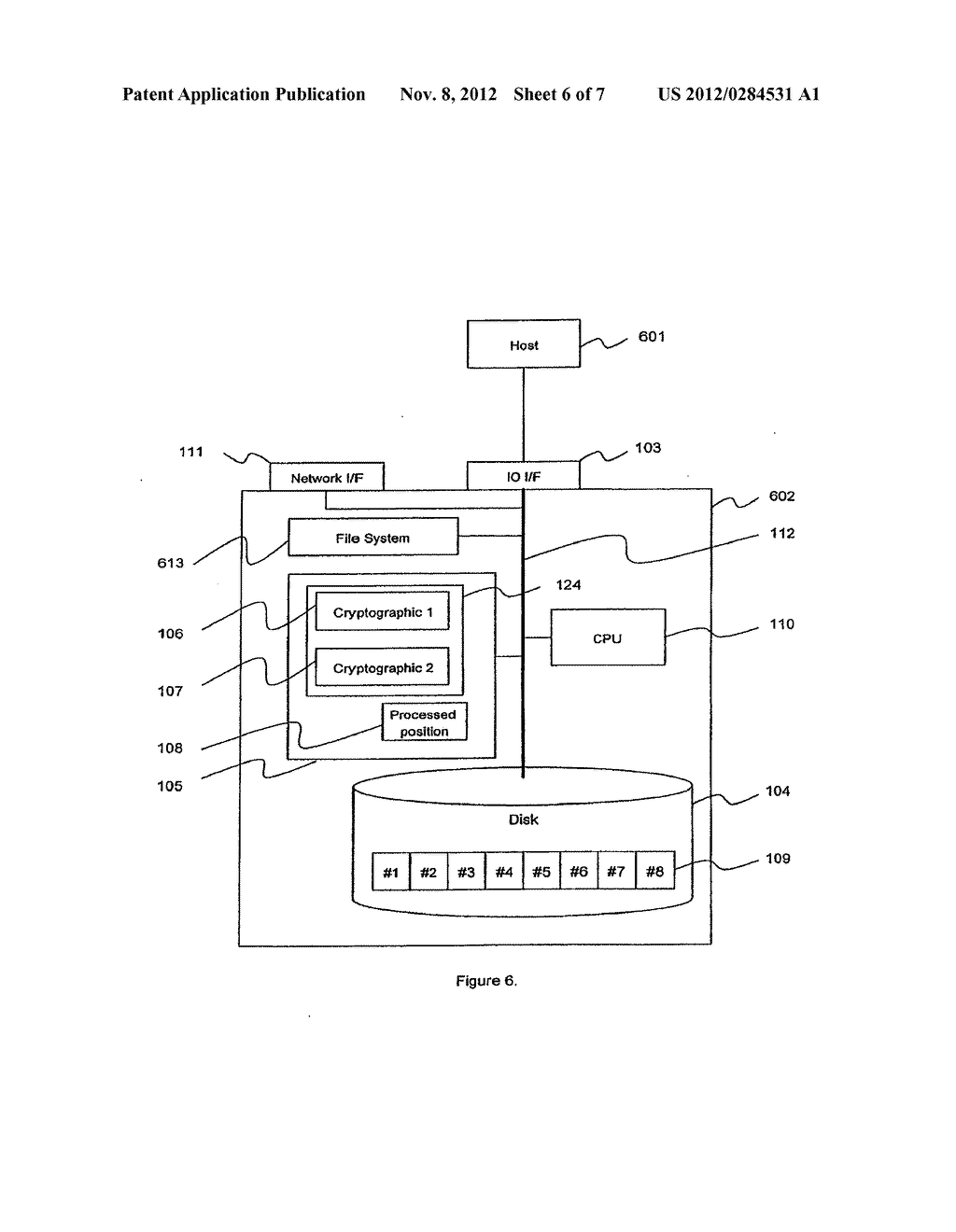 METHOD AND APPARATUS FOR CRYPTOGRAPHIC CONVERSION IN A DATA STORAGE SYSTEM - diagram, schematic, and image 07