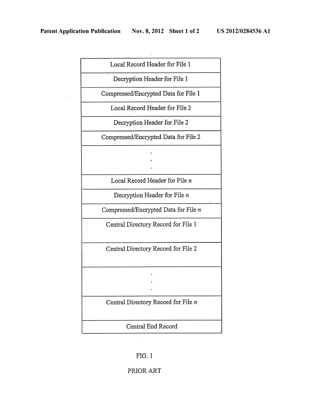 Method and System for Mixed Symmetric and Asymmetric Decryption of .ZIP     Files - diagram, schematic, and image 02