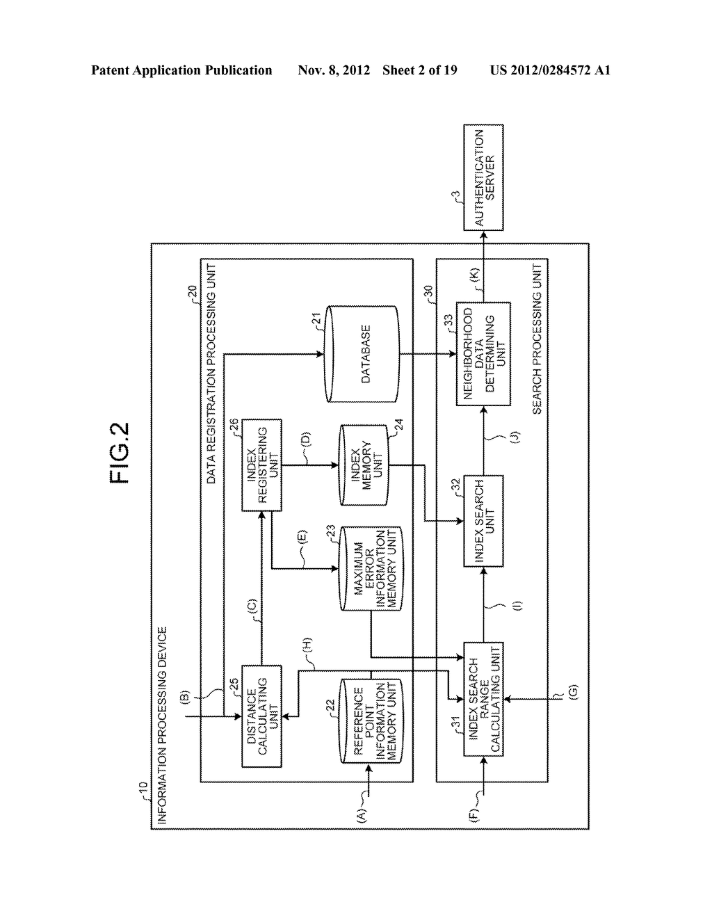 INFORMATION PROCESSING DEVICE, INFORMATION PROCESSING SYSTEM AND SEARCH     METHOD - diagram, schematic, and image 03