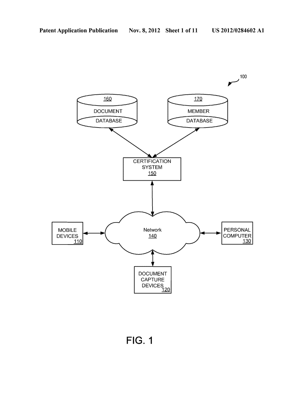 SYSTEMS AND METHODS FOR ELECTRONIC DOCUMENT IDENTIFICATION AND     CERTIFICATION - diagram, schematic, and image 02