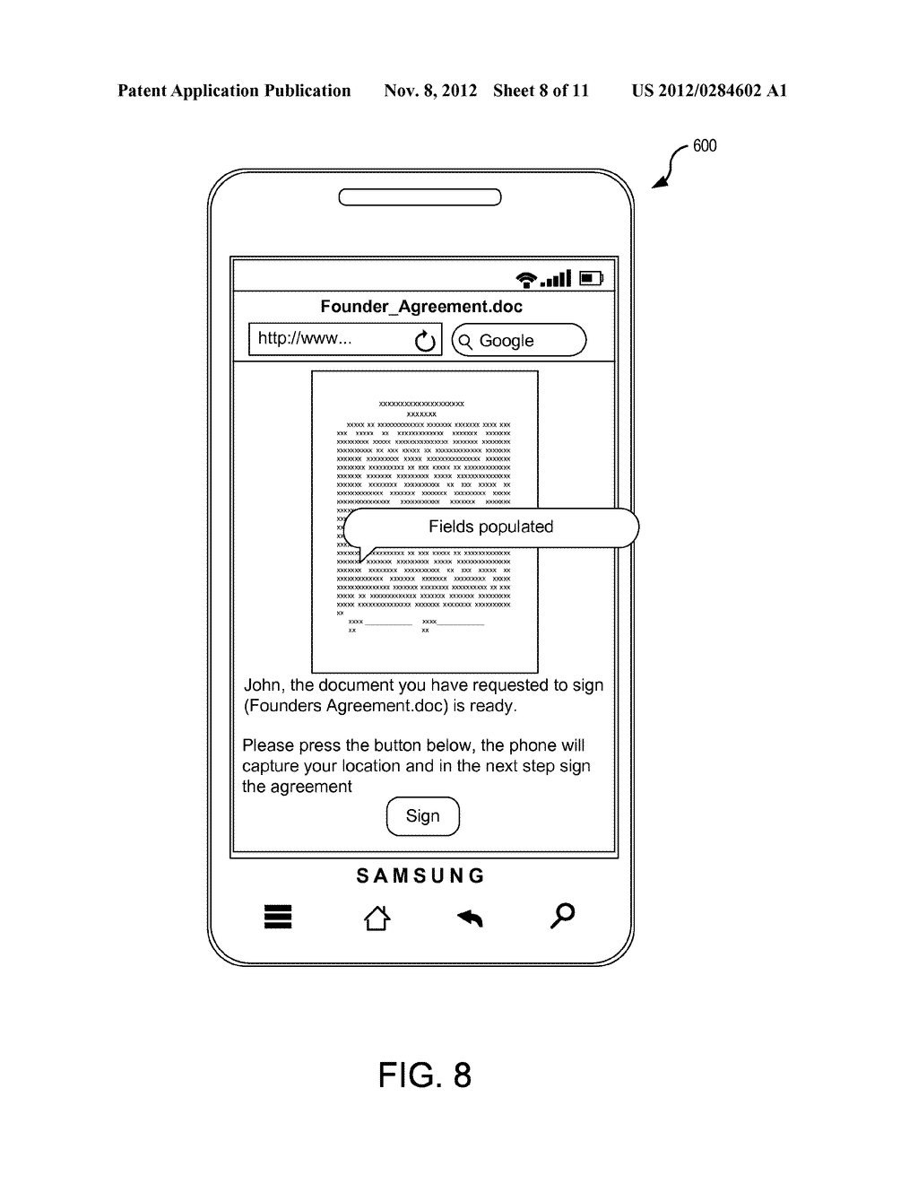 SYSTEMS AND METHODS FOR ELECTRONIC DOCUMENT IDENTIFICATION AND     CERTIFICATION - diagram, schematic, and image 09