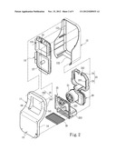 HAND DRYER WITH ANNULAR AIR EXHAUST diagram and image