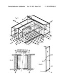 Foldable transportable structure diagram and image