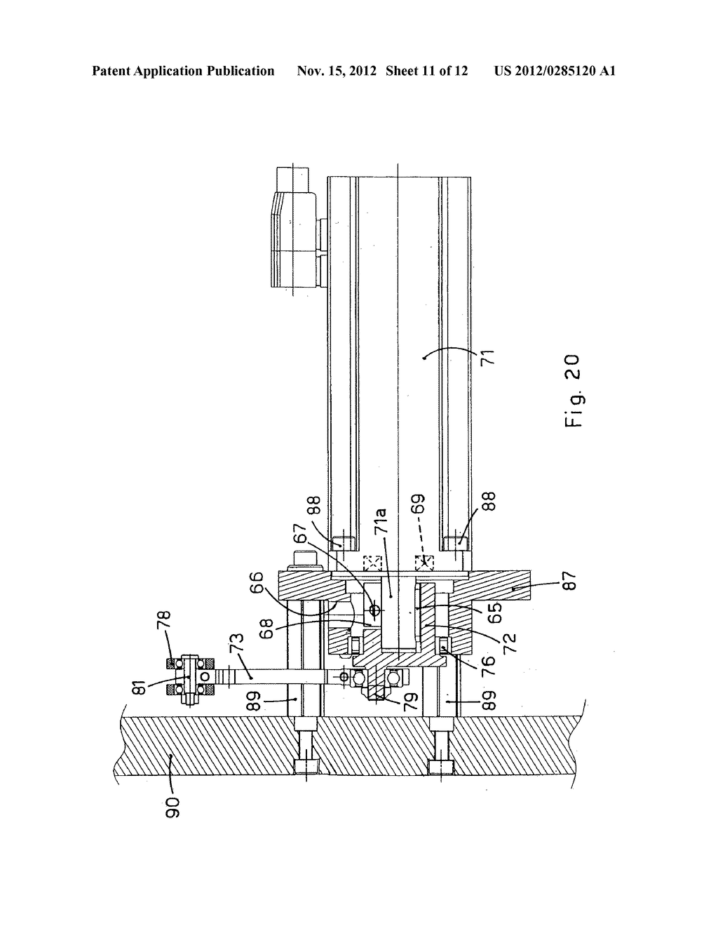 DRIVING APPARATUS FOR DRIVING OPERATIVE UNITS OF A PACKAGING MACHINE - diagram, schematic, and image 12