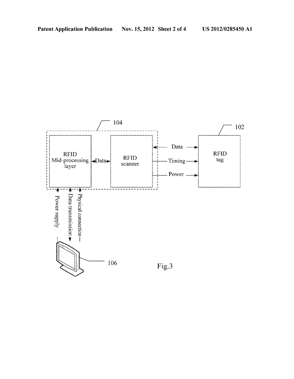 DEVICE AND METHOD FOR USE WITH AN ANESTHESIA MACHINE FOR AUTOMATICALLY     IDENTIFYING PATIENT INFORMATION - diagram, schematic, and image 03