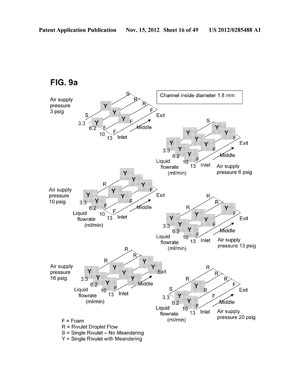 Apparatus and method for cleaning passageways such as endoscope channels     using flow of liquid and gas - diagram, schematic, and image 17