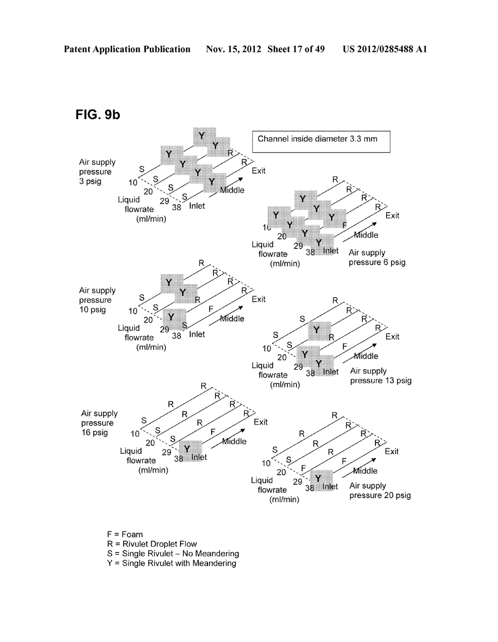 Apparatus and method for cleaning passageways such as endoscope channels     using flow of liquid and gas - diagram, schematic, and image 18
