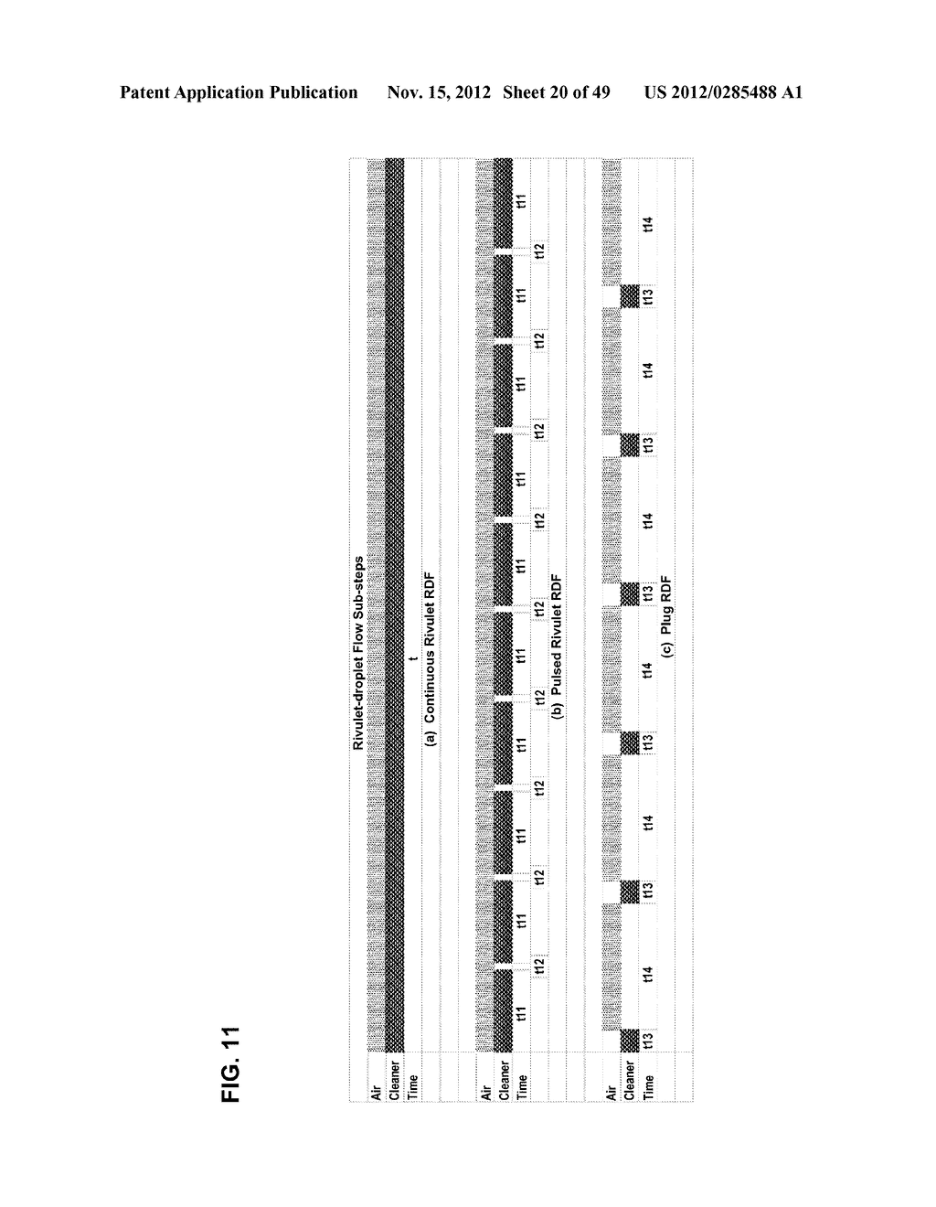 Apparatus and method for cleaning passageways such as endoscope channels     using flow of liquid and gas - diagram, schematic, and image 21