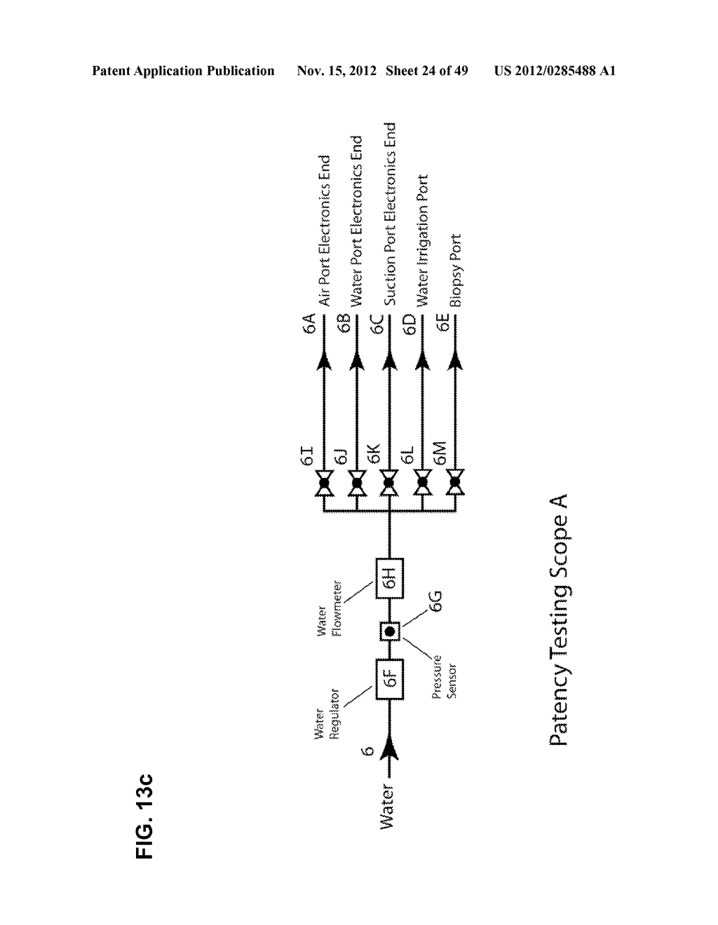 Apparatus and method for cleaning passageways such as endoscope channels     using flow of liquid and gas - diagram, schematic, and image 25