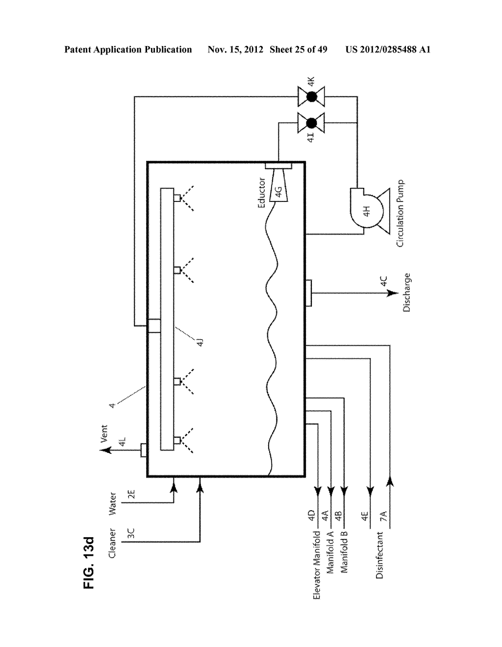 Apparatus and method for cleaning passageways such as endoscope channels     using flow of liquid and gas - diagram, schematic, and image 26