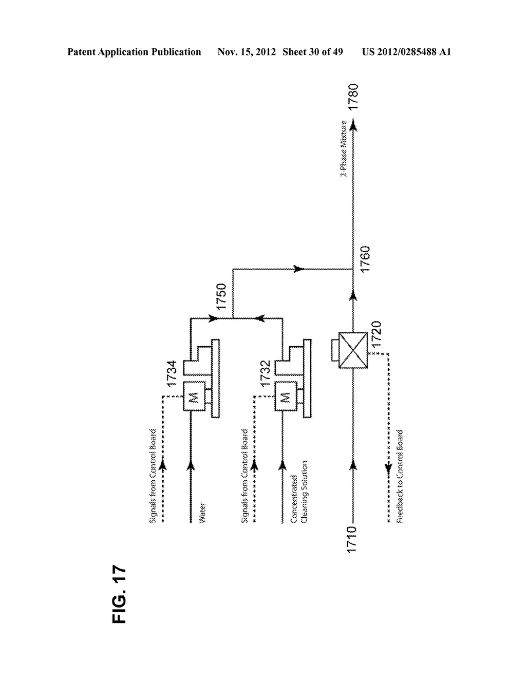 Apparatus and method for cleaning passageways such as endoscope channels     using flow of liquid and gas - diagram, schematic, and image 31