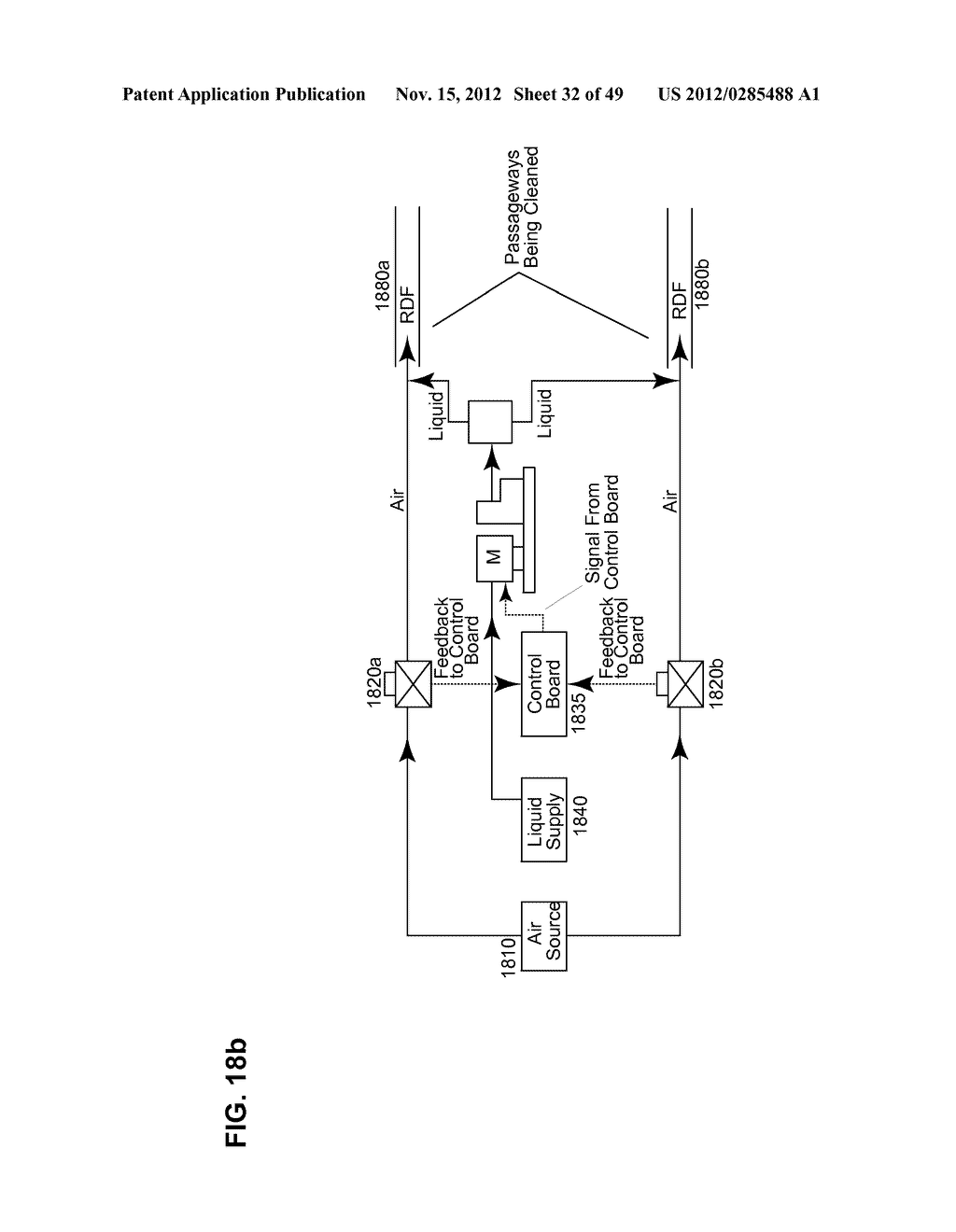 Apparatus and method for cleaning passageways such as endoscope channels     using flow of liquid and gas - diagram, schematic, and image 33