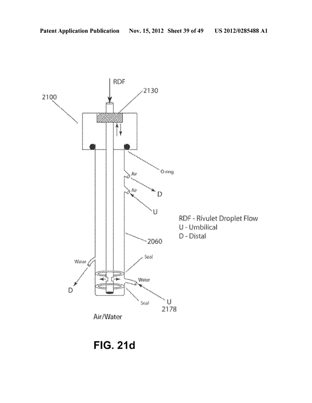Apparatus and method for cleaning passageways such as endoscope channels     using flow of liquid and gas - diagram, schematic, and image 40
