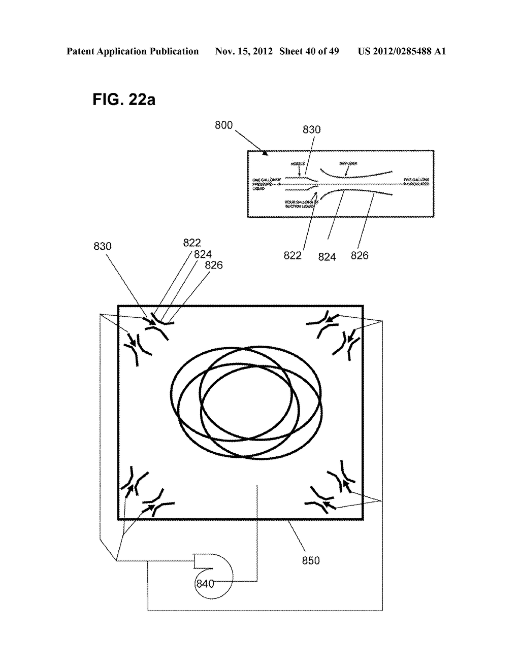 Apparatus and method for cleaning passageways such as endoscope channels     using flow of liquid and gas - diagram, schematic, and image 41