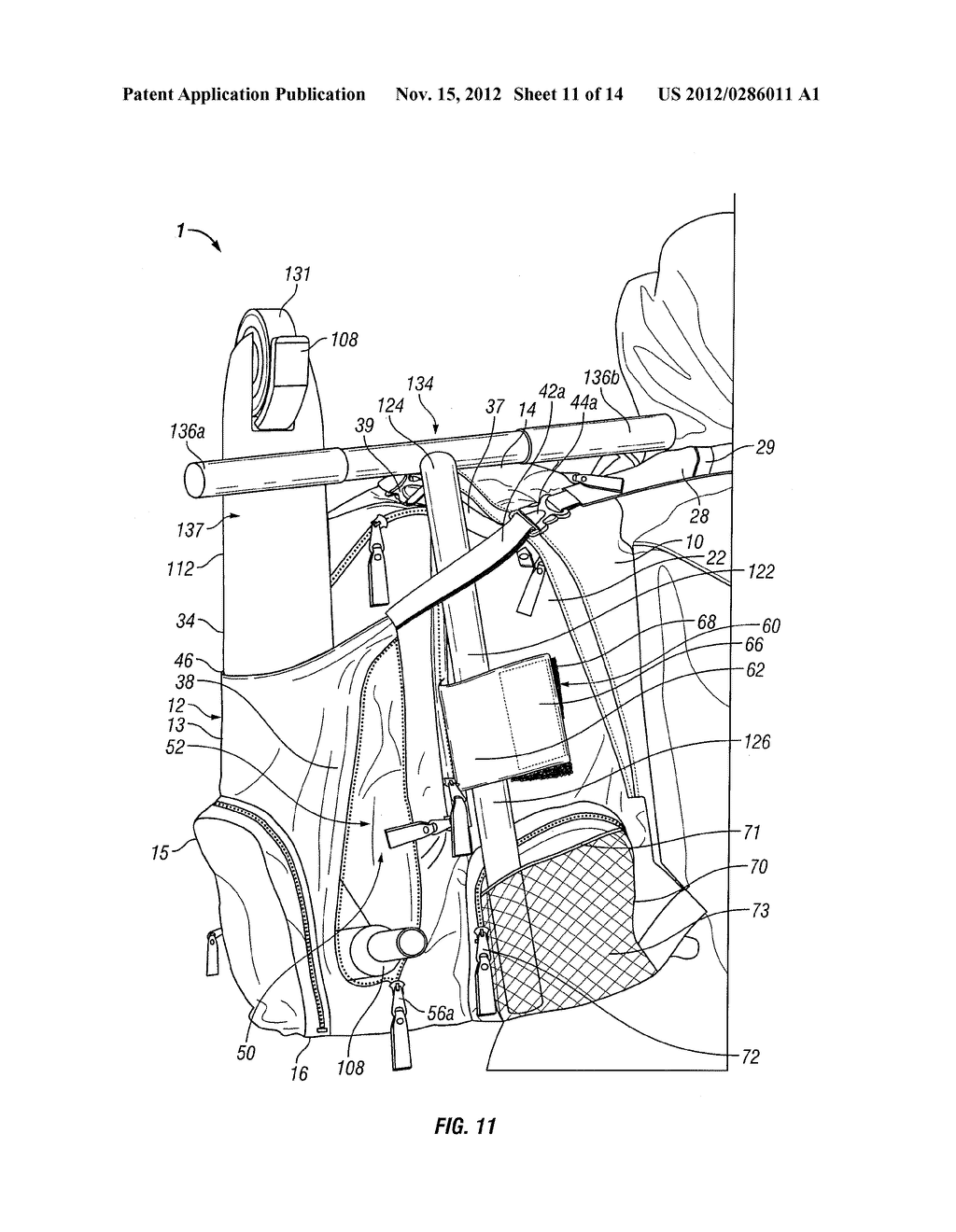 SCOOTER CARRYING CASE AND BACKPACK APPARATUS - diagram, schematic, and image 12