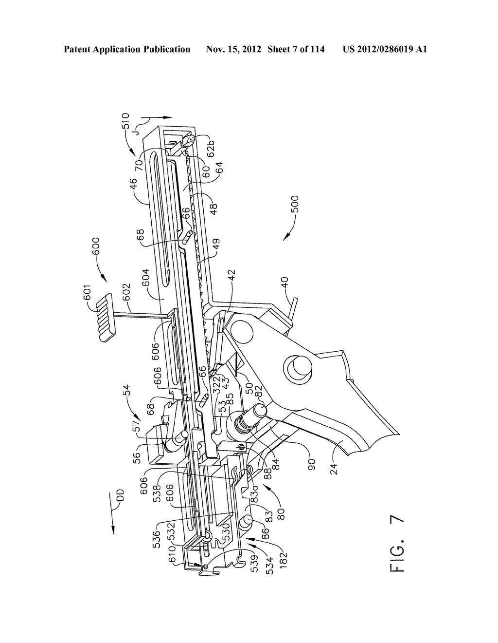 SURGICAL STAPLING APPARATUS WITH LOAD-SENSITIVE FIRING MECHANISM - diagram, schematic, and image 08