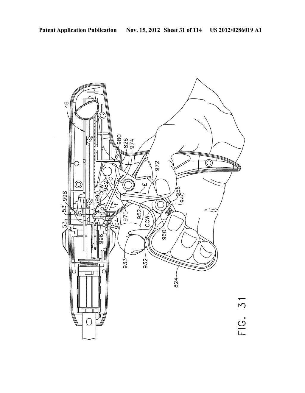 SURGICAL STAPLING APPARATUS WITH LOAD-SENSITIVE FIRING MECHANISM - diagram, schematic, and image 32