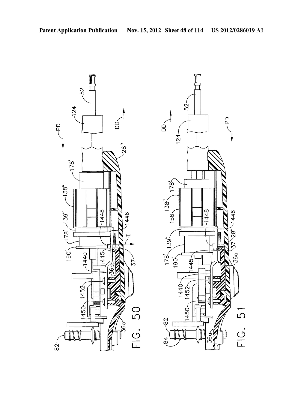 SURGICAL STAPLING APPARATUS WITH LOAD-SENSITIVE FIRING MECHANISM - diagram, schematic, and image 49
