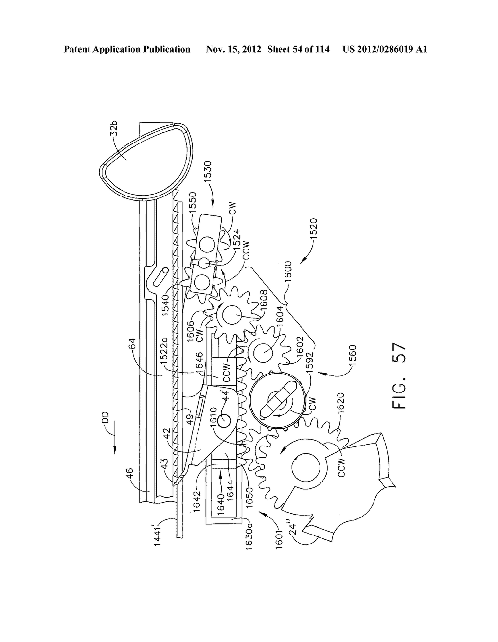 SURGICAL STAPLING APPARATUS WITH LOAD-SENSITIVE FIRING MECHANISM - diagram, schematic, and image 55