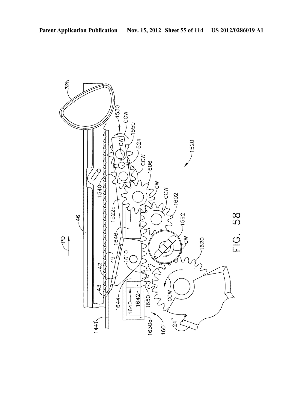 SURGICAL STAPLING APPARATUS WITH LOAD-SENSITIVE FIRING MECHANISM - diagram, schematic, and image 56