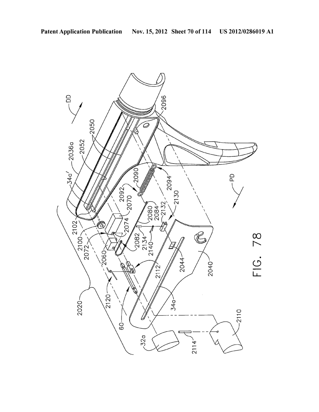 SURGICAL STAPLING APPARATUS WITH LOAD-SENSITIVE FIRING MECHANISM - diagram, schematic, and image 71