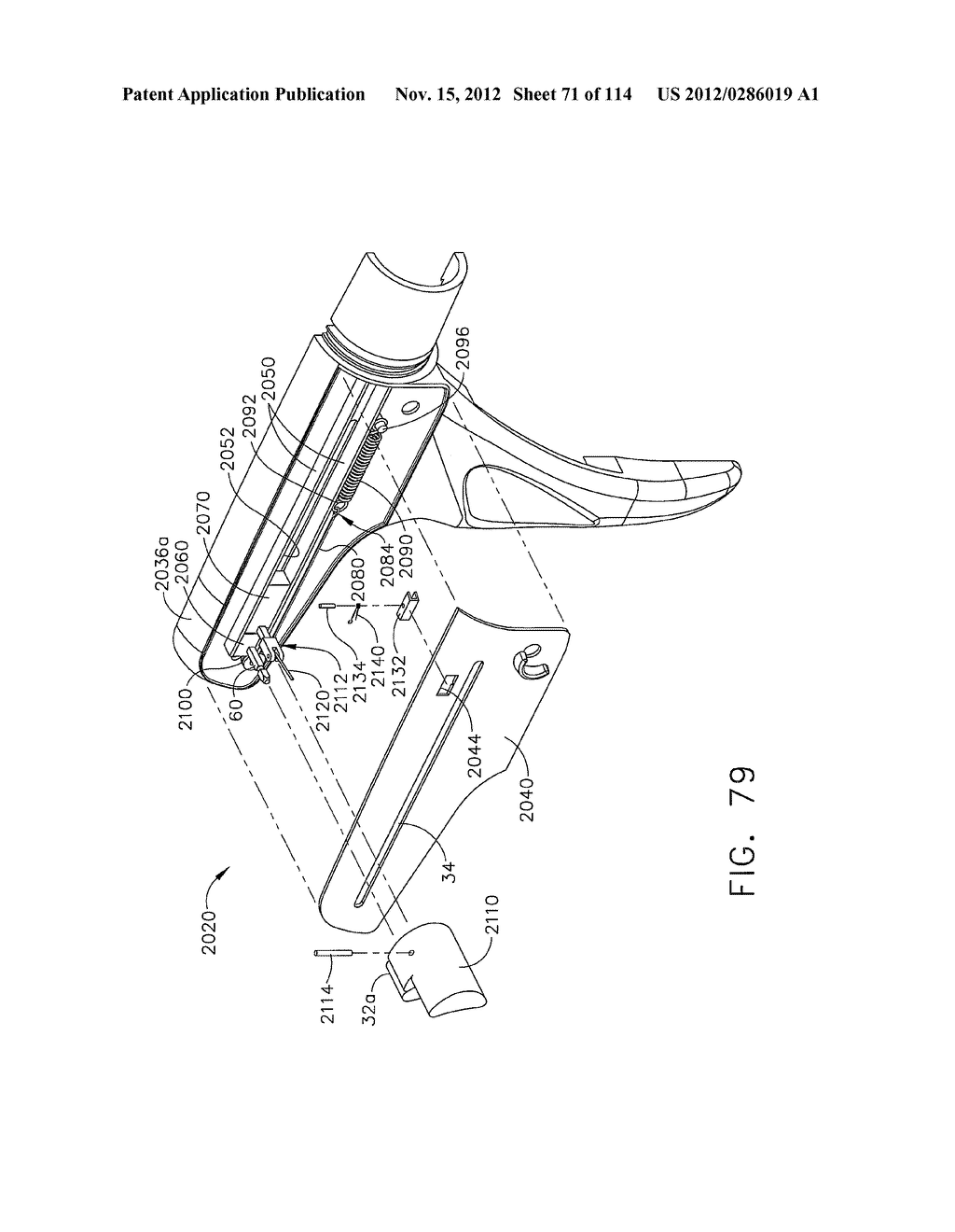 SURGICAL STAPLING APPARATUS WITH LOAD-SENSITIVE FIRING MECHANISM - diagram, schematic, and image 72