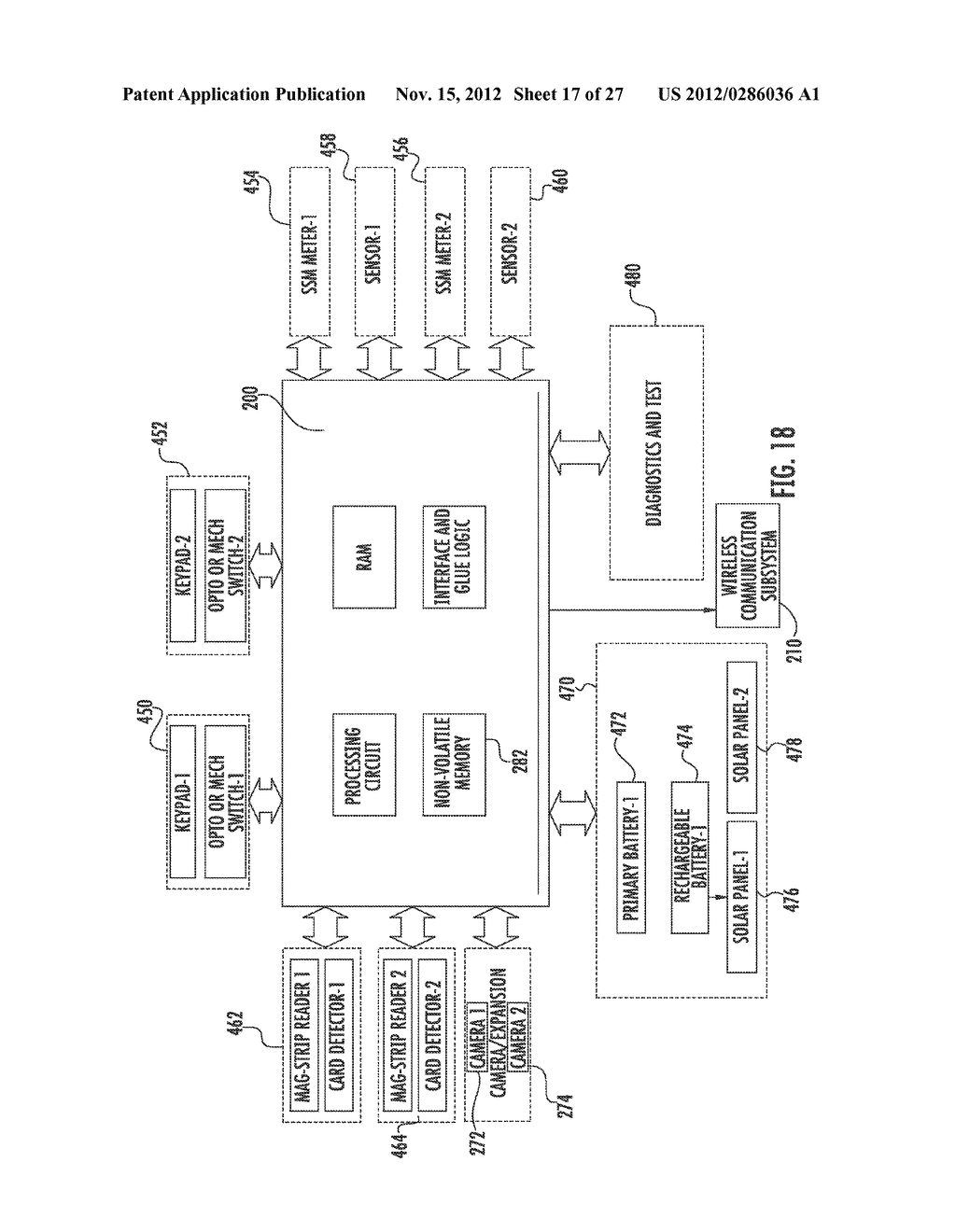 CONTROL SYSTEM FOR WIRELESS COMMUNICATION PARKING METER - diagram, schematic, and image 18