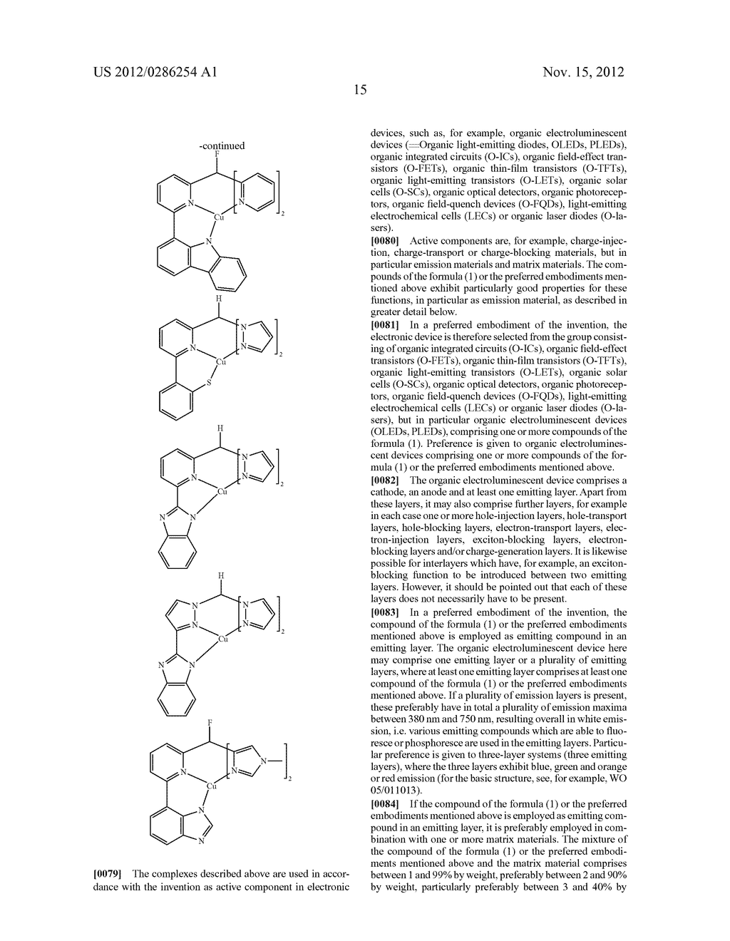 ELECTRONIC DEVICE COMPRISING METAL COMPLEXES - diagram, schematic, and image 16