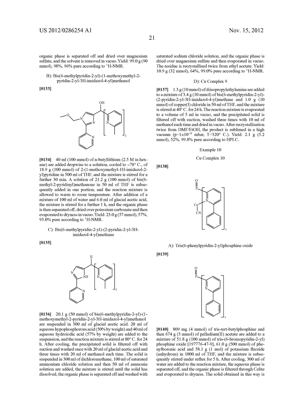ELECTRONIC DEVICE COMPRISING METAL COMPLEXES - diagram, schematic, and image 22