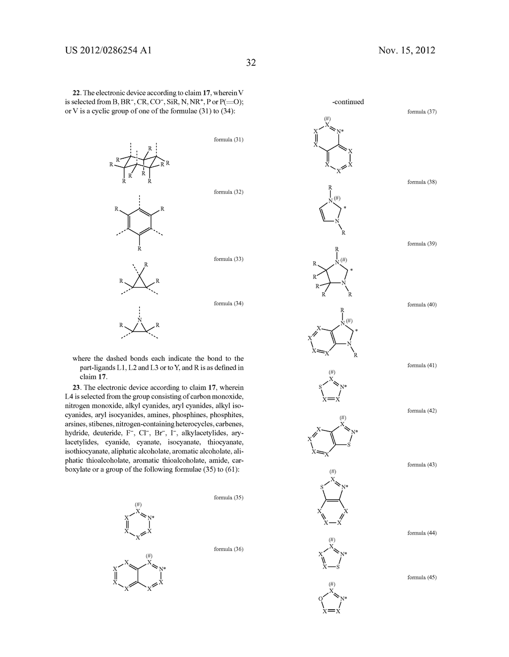 ELECTRONIC DEVICE COMPRISING METAL COMPLEXES - diagram, schematic, and image 33