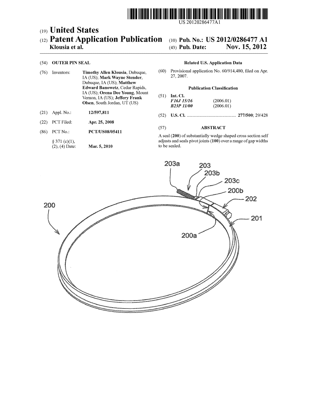 Outer Pin Seal - diagram, schematic, and image 01