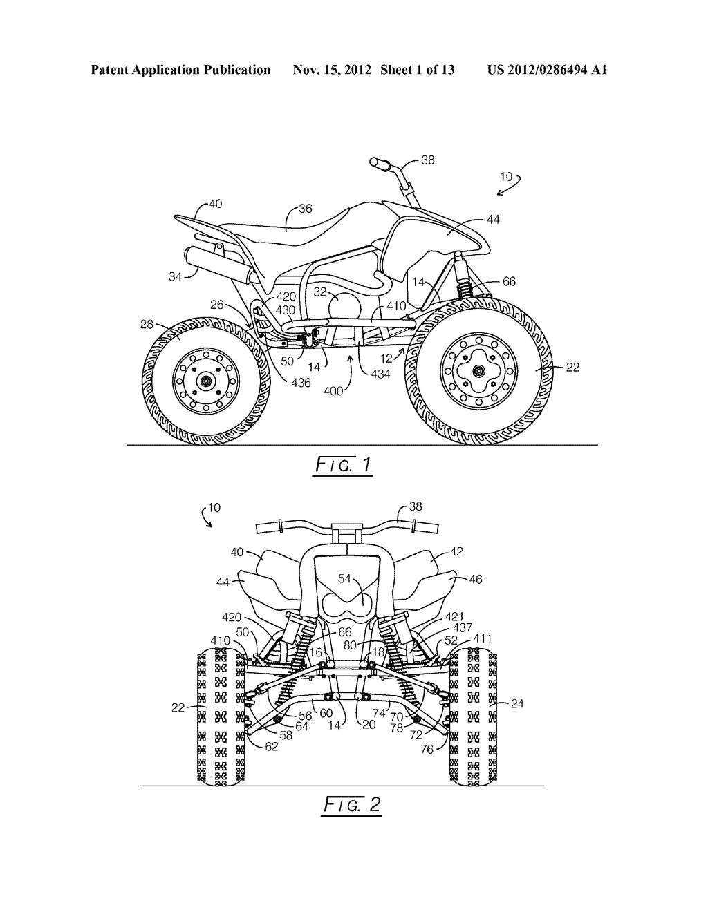 Guard Bar and Tunable Footpeg System for All-Terrain Vehicles - diagram, schematic, and image 02