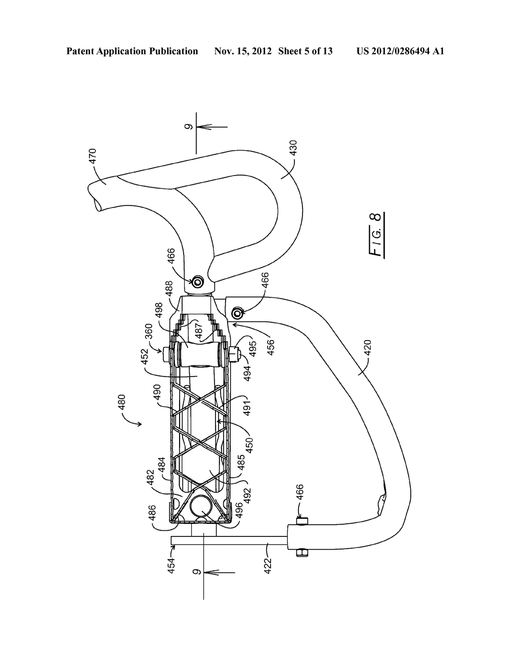 Guard Bar and Tunable Footpeg System for All-Terrain Vehicles - diagram, schematic, and image 06